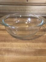 Vintage Pyrex Clear Glass Round Bowl, 022 Cooking/Baking/mixing 1 QT. - No Lid