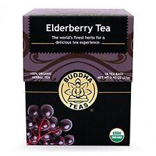 Elderberry Tea - Organic Herbs - 18 Bleach Free Tea Bags, New, Free Shipping