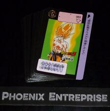 DRAGON BALL Z GT DBZ HONDAN PART 8 REGULAR CARD SET OF 36 CARTES JAPAN 1991 NM