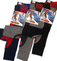 NEW *3 PAIR VALUE PACK* MENS THERMAL PADDED SKI SOCKS LONG LENGTH SIZE UK 6 -11