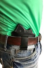 IWB Black Leather Gun holster for Ruger LCP-380 Pistol without Laser Sight