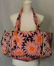 Retired Vera Bradley Loves Me Pink Daisy Travel Tote Carry On Bag