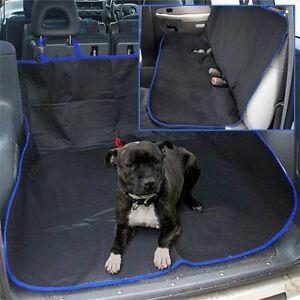 100% WATERPROOF CAR SEAT COVER REAR PET DOG PROTECTOR TRAVEL HAMMOCK MAT BLUE