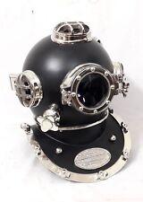 Vintage Latón buceo de acero sólido casco para buzos Us Navy Mark V Buceo Tamaño Completo