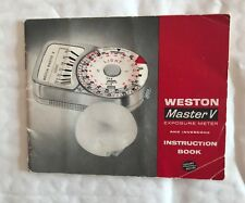 Weston Master V Exposure Meter Instructions