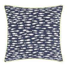 pad concept - Kissenhülle Maritim 40 x 40 cm  Fische grob gewebte Baumwolle