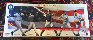 1996 FIVE STAR SALUTE ALL STAR GAME Poster 12X30 Griffey Edgar Arod Jay Mariners