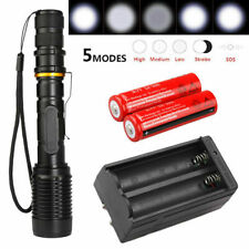 990000Lumens 5Modes 18650 T6 LED Flashlight Powerful Tactical Zoomable Torch USA