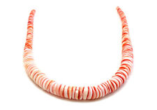 Graduated Red Luhuanus Shell Heishi Beads (16 Inches Strand)