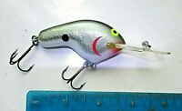 1ct NATURAL SHAD 4in Balsa Wood Coffinbill Flatside CRANKBAIT Bass Fishing Lures