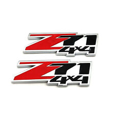2PCS z71 4X4 Emblem Badge 3D Metal Red/Black Decal Sticker Symbol for Chevrolet