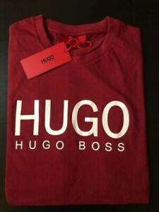 Hugo Boss t shirt never used men's t shirt new with tag original Marron- M