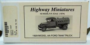 Jordan Miniatures 1/87 HO Scale 1929 Ford Model AA Tank Truck Kit
