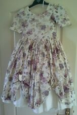 Pronuptia little bo peep Victorian floral bridesmaid dress approx age 5-6