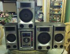 SONY HCD-LX10000 3 CD Changer Dual Cassette Deck Hi-Fi Receiver 520W & Speakers