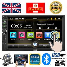 "Double 2 Din Car Stereo Radio 7"" Bluetooth USB AUX Mirror IOS/Android MP5 Player"