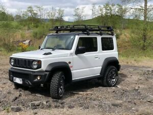 For 2019 2020 Suzuki Jimny Roof Rack Travel Luggage Carrier Basket Rack