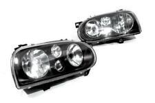 Smoke Glass Lens Head Light Pair LHD For VW Golf MK3 8V 16V GTI GL Cabriolet