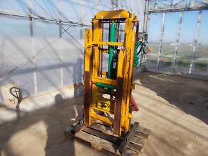 Hubmast AGROMEC Gabelstapler Hydraulik Traktor Stapler Hubwagen Heckstapler
