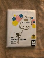 Vintage Sears Perma Prest Percale White Full Sheet Flat Only 81 X 104 In Package
