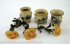 Steingut Aufbewahrungsbehälter 3 Stück handgemacht Blumendekor