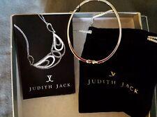 Judith Jack Sterling Silver Marcasite Pave Hinged Bangle Bracelet GORGEOUS!