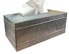 Autumn Alley Farmhouse Galvanized Metal Rectangular Rustic Tissue Box Cover