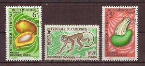 Cameroon, Monkey & Fruit, MH, Cancelled to Order hinged, 1962, 1967