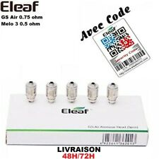 Resistances Authentiques ELEAF GS Air 0.75 ohm / EC iJust 2 Melo 3 0.5/0.3 ohm
