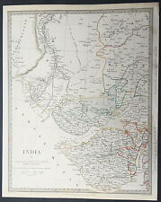 1833 SDUK Old, Antique Map The Gujarat Region of India - Jewel of Western India