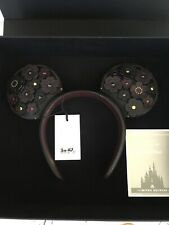 COACH NEW IN GIFT BOX MINNIE MOUSE LEATHER EAR HEADBAND TOOLED TEA ROSE SPARKLE