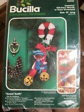 Bucilla Sweet Tooth Elf On Candy Can Jeweled Felt Embroidery Kit Retired 82020
