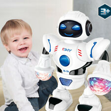 LED Light Electric Dancing Music Space Walking Robot Toy For Boys Kids Gift