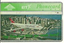 RARE / CARTE TELEPHONIQUE - SAN FRANCISCO AVION VIRGIN ATLANTIC PLANE /PHONECARD