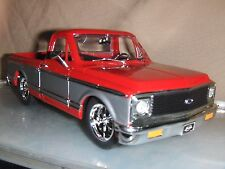 Jada Dub 1:24 1972 Red  2 Tone Chevy Cheyenne Pick Up Truck  Mag rims