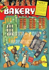 Vintage Reprint - Pillsbury'S Play Bakery Action Cut-Outs Book - Reproduction