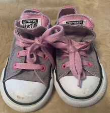 Converse All Star Chuck Taylor Shoes Childrens Size 7 Stylish Gray Athleisure