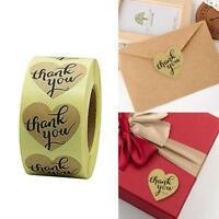 ''Thank You'' Stickers Seals Mini DIY Craft Heart-Shaped Lables Wedding Gift