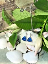 Best Selling Ladies Blue Sapphire Trillion CZ Drop/Dangle Earrings -Wedding Gift