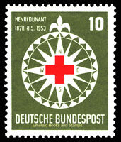 EBS Germany 1953 Henri Dunant Red Cross Rotes Kreuz Michel 164 MNH** cv $35.00