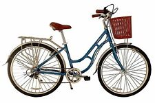 Ecosmo 700C Alloy Ladies Women Shop City Road Bicycle Bike 7 SP -28AC02B+basket