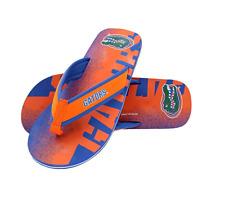 FOCO NCAA Men's Florida Gators Contour Fade Wordmark Thong Sandals
