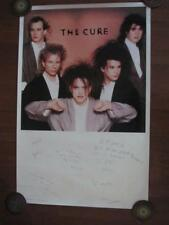 """1986 The Cure Gothic Rock Band 23.5"""" x 36"""" Poster Robert Smith Simon"""