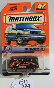 Matchbox MBX Speedy Delivery VW Transporter Richie's #57 FNQHotwheels FM329