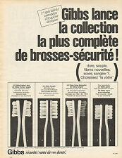 Publicité 1966  Gibbs les brosses sécurité ! pour la santé de vos dents !