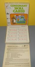 Educational 1978 Milton Bradley #7308 Consonant Skill Cards Complete w/ 47 Cards