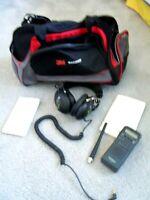 RadioShack PRO-74 100-Channel  VHF/AIR/UHF Scanner w/ KOSS hdphones & 3M racebag