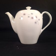 Vintage CREATIVE FINE CHINA Teapot Platinum Star Burst Pattern #1014