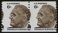 "1305 - 6c Misperf Error / EFO Pair ""Franklin D. Roosevelt"" FDR Mint NH"