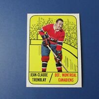 JEAN-CLAUDE J.C. TREMBLAY 1967-68  Topps  # 73  Montreal Canadiens 1968 67-68